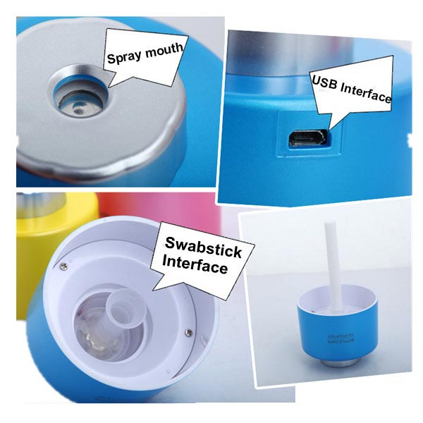 USB Power Mini Bottle Cap Cover Humidifier