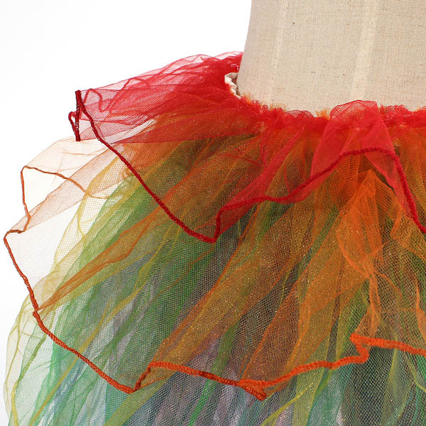 Girls Rainbow Tutu Dress Sexy Puff Skirt Tail Party Cosplay Club Dress