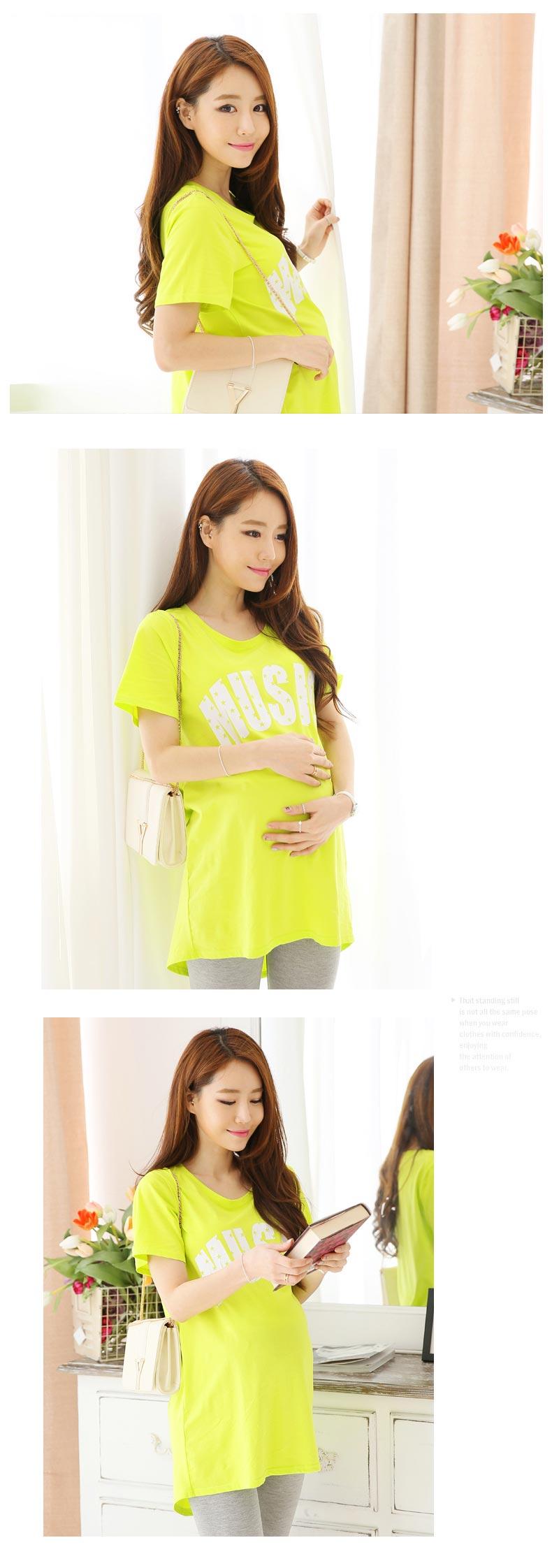 Maternity Clothes Fashion Summer Loose Big Yards Short Sleeve Shirt