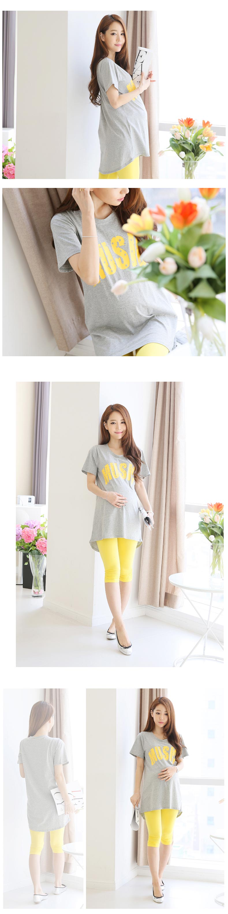 Maternity Clothes Fashion Summer Loose Big Yards Short Sleeve Shirt