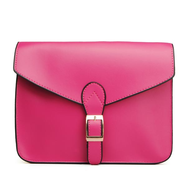 Women PU Leather Retro Candy Color Square Belt Decorated Crossbody Bags