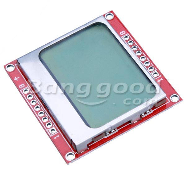 5110 LCD Module White Backlight For Arduino
