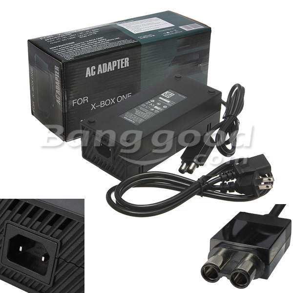 US Adapter Charger Power Supply Cable Cord for Microsoft Xbox One