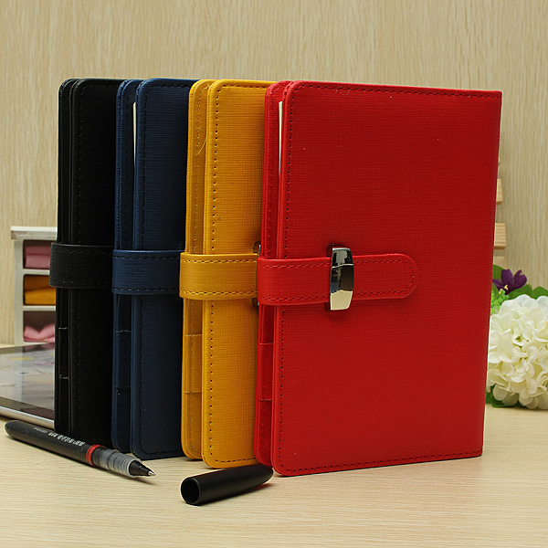 Vintage Identity Organiser Planner Leather Look Diary Notebook