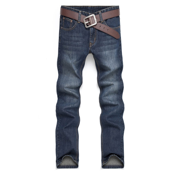 Men's Cotton Straight Jeans Fashion Acid Washed Jeans