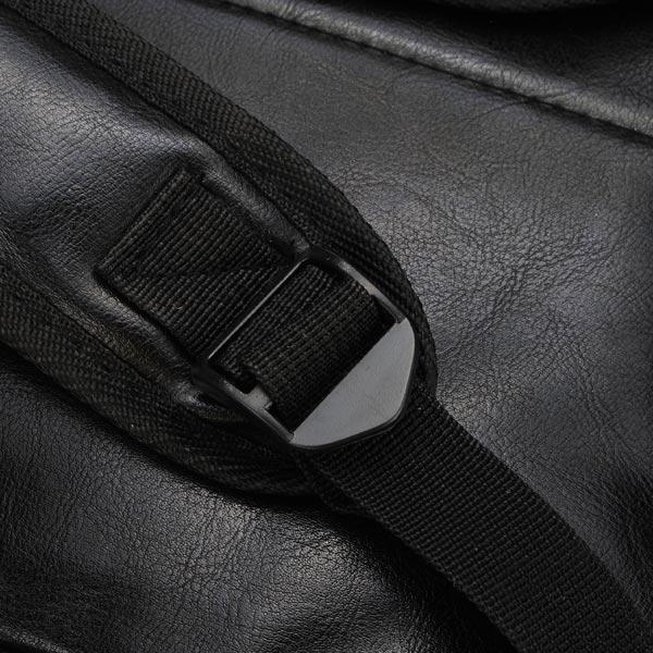 Unisex Cross Skull Rivet PU leather Women Backpack Satchel