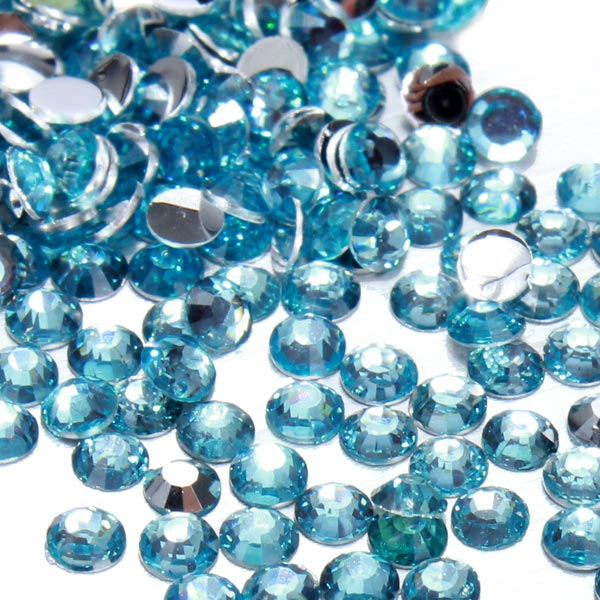 200pcs 2mm Flat Resin Rhinestone Nail Art Tips Cell Phone Decorations
