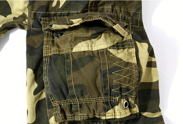 Men's Loose Fit Camo Multi Pocket Large Size Cargo Shorts
