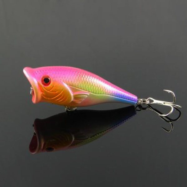 Lure Popper Fish Shape Bait Fishing Hook for Bass