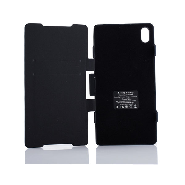 3500mAh External Battery Leather Case For Sony Xperia Z2