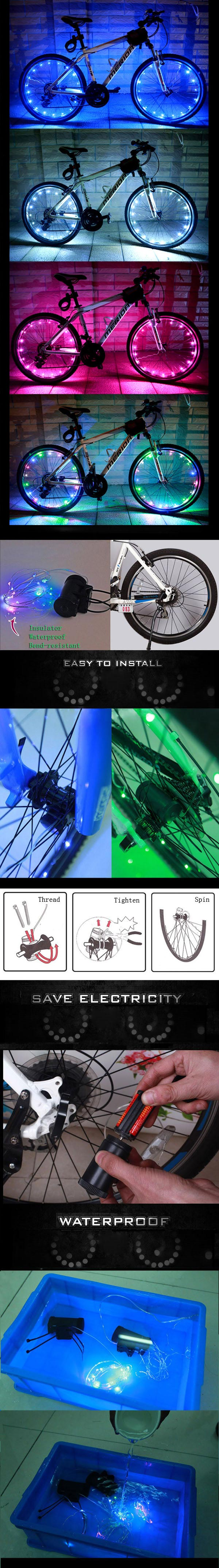 Bike Bicycle Wheel Valve Spoke LED Light Lamp Reflector