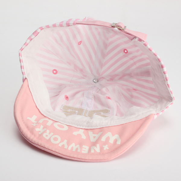 Baby Girl Boy Stripe Snapback Adjustable Visor Baseball Cap Sun Hat
