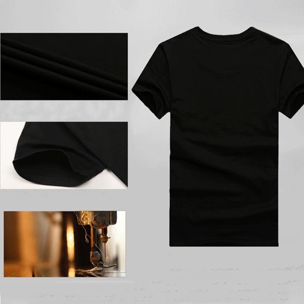 Mens Fashion Casual Hip-hop 3D Animal Print Short Sleeve T-shirt