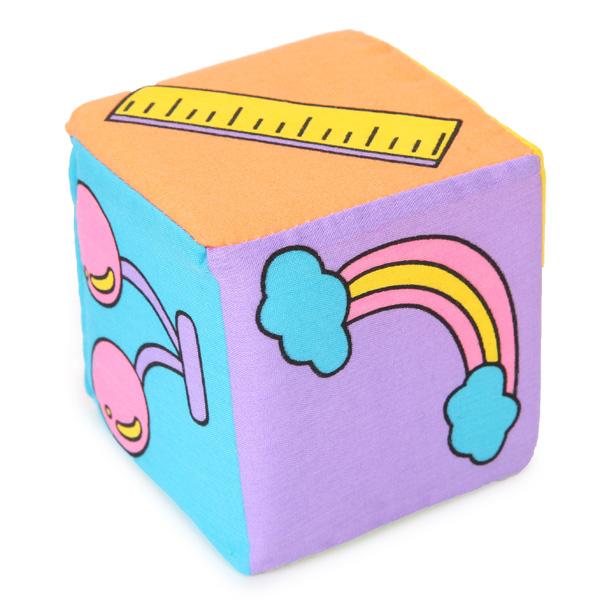 Infant Baby Kids 7cm Cloth Building Blocks Educational Rattles Set Toys
