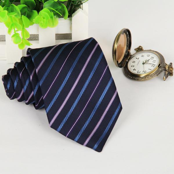 Men's Casual Polyester Silk Arrow Stripes Tie