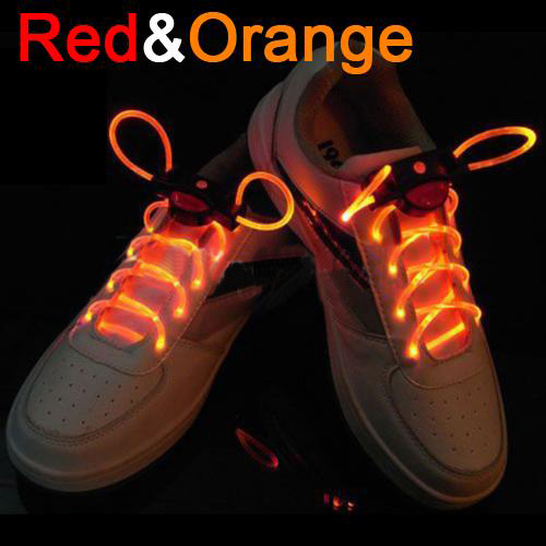 Cool 19 Color For Pick LED Flashlight Up Glow Shoelaces Party