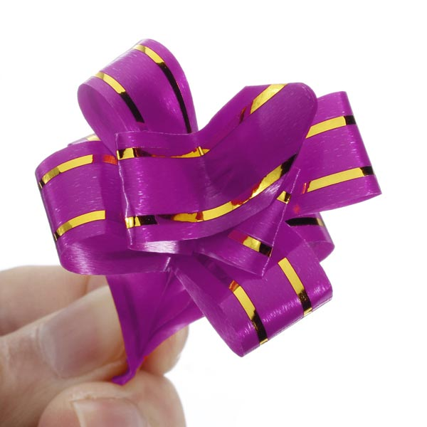 10PCS Pull Bow Ribbons Gift Wrap Wedding Car Decoration Ribbon Strip