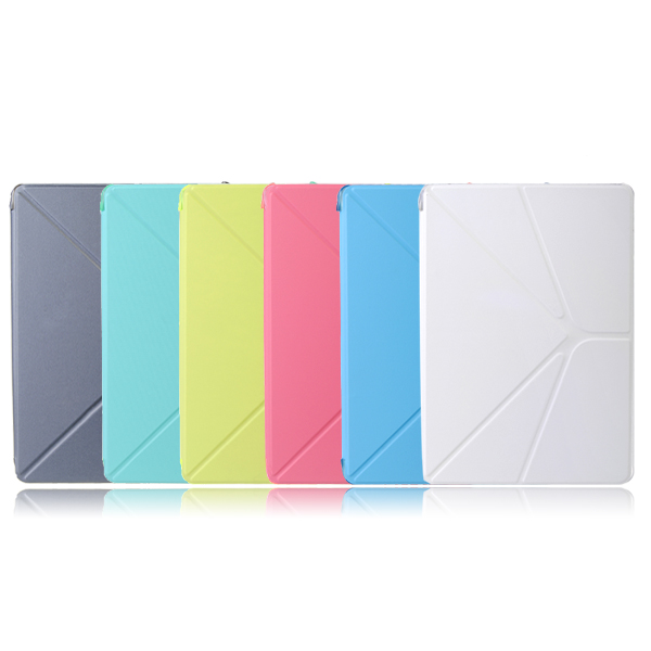 Fashion Transparent Magnetic Leather Case Cover For iPad Air