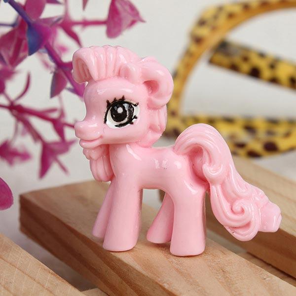 Cute Kawaii Little Cartoon Flat Back Resin Pony DIY Decoration