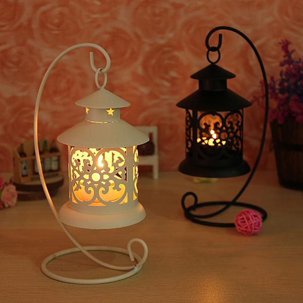 Moroccan Style Iron hollow Candle Stick Candles