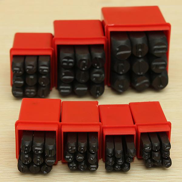 9pcs Numbers Steel Punch Stamp Die Set Metal Tool 3/4/5/6/8/10/12.5mm