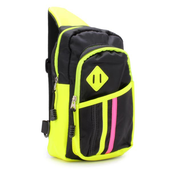 Men And Women Casual Sports Bags Block Color Chest Bags Shoulder Bags