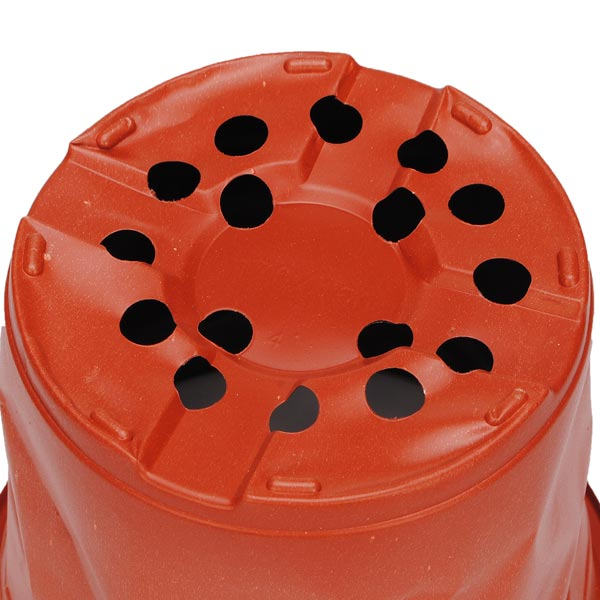 Round Red Plastic Plant Grow Seeding Pots Garden Plant Pots