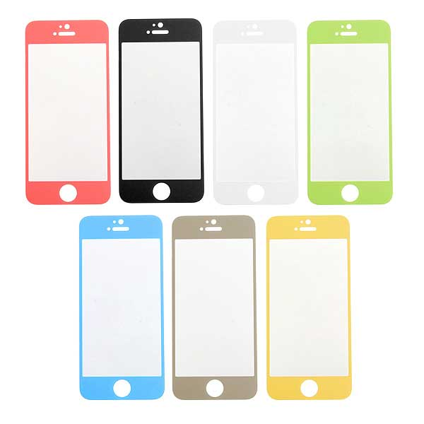 Colorful Tempered Glass Film Screen Protectors For iPhone 5 5S 5C SE