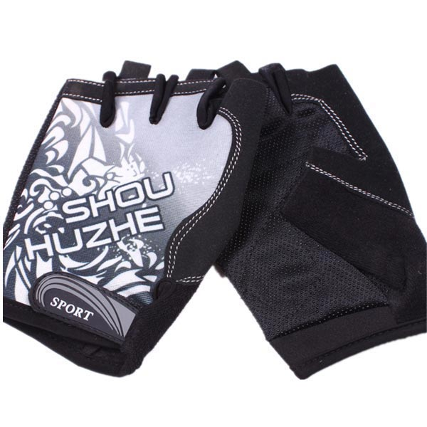 Cycling Sports Anti Skid Particles Half Finger Gloves