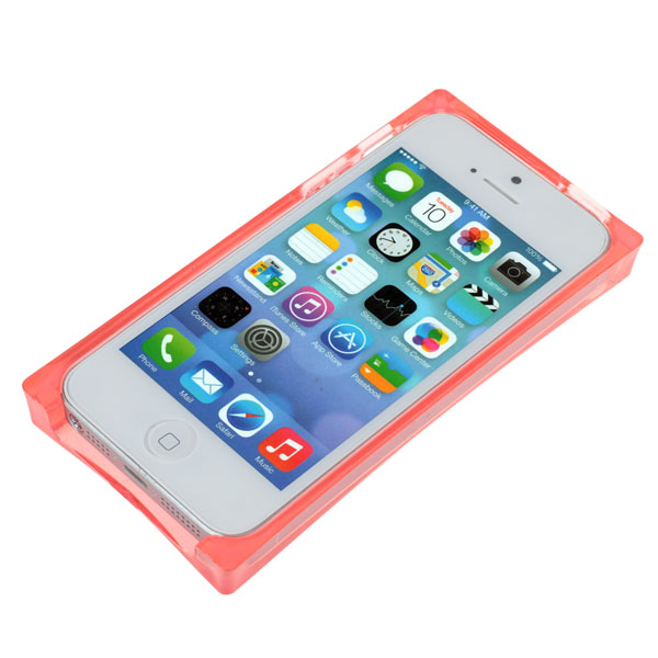 TPU Cool Transparent Soft Protective Case For iPhone5 5S