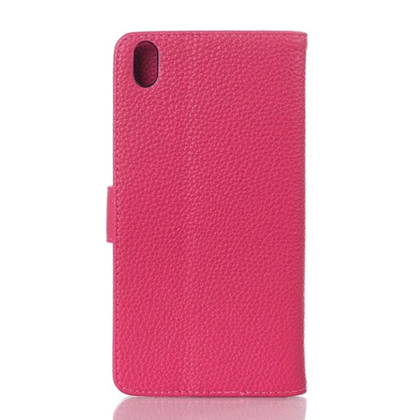 Litchi Grain Leather Flip Stand Cover Case For HTC Desire 816