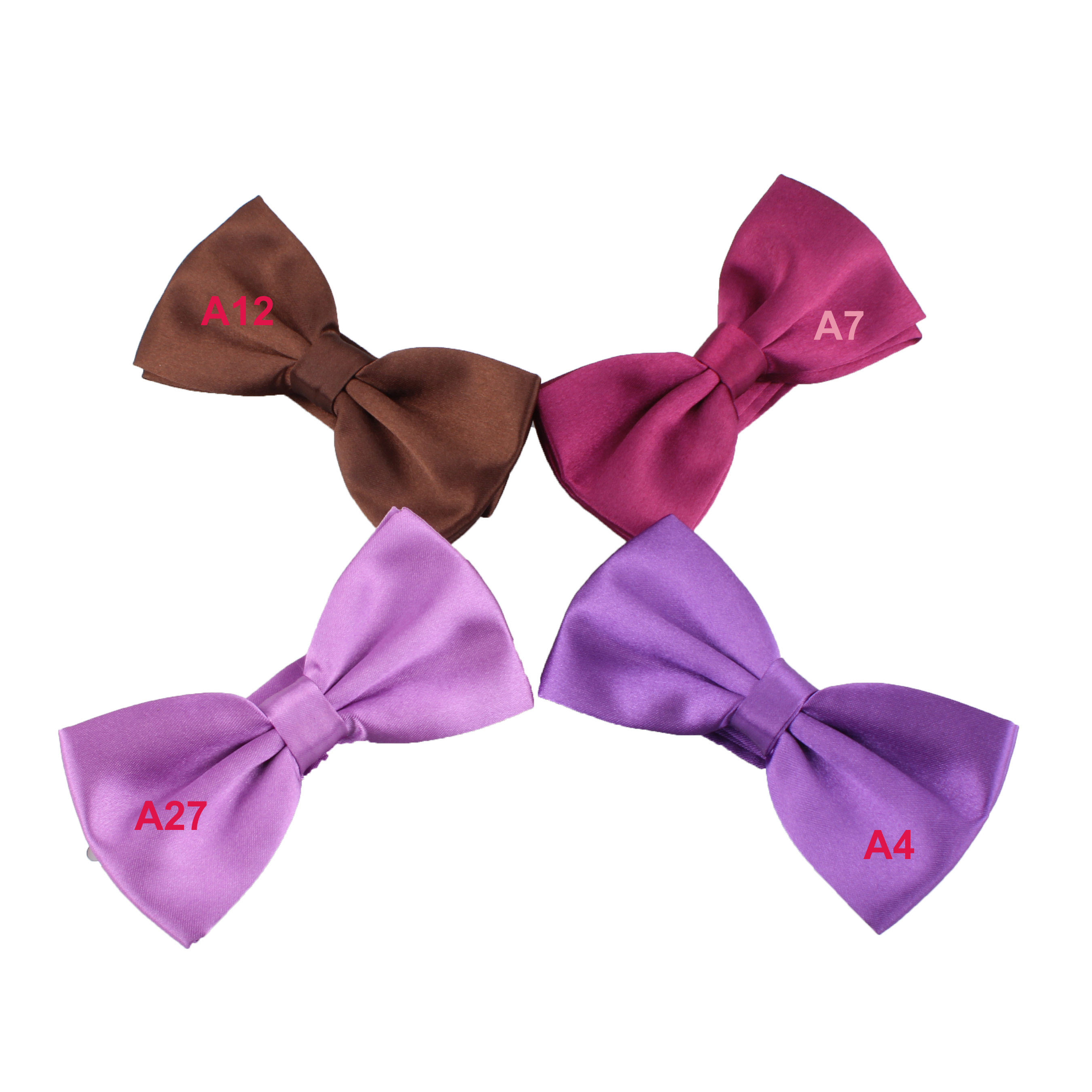 Mens Polyester Solid Color Choir Uniform Bowtie