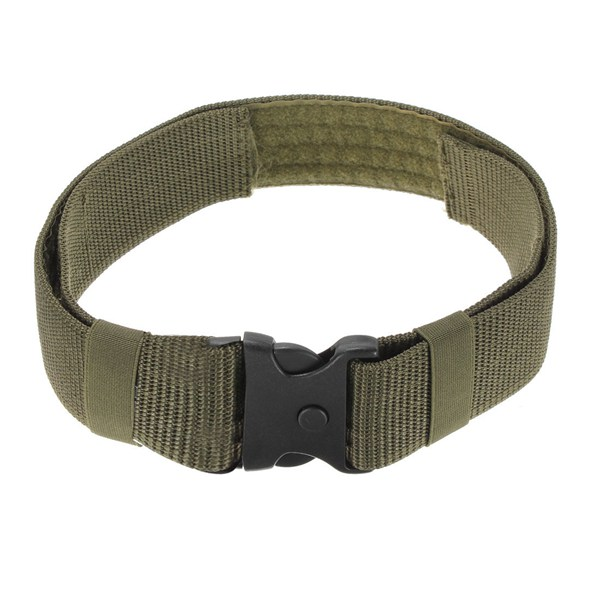 Military Police Adjustable Fastener Dual-Safety Tactical Nylon Belt