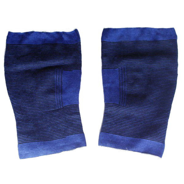 Nylon Elastic Knitting Kneelet Soft Brace Pad Gurd 1 Pair Blue