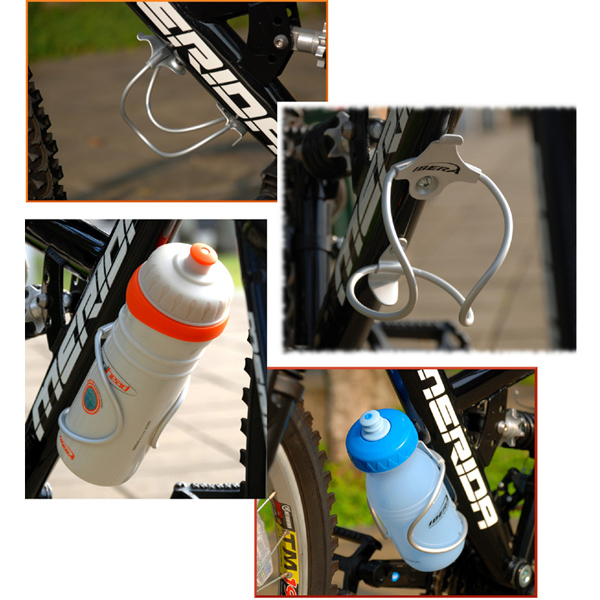 Bike Bicycle Cycling Aluminum Water Bottle Cage Holder One Piece