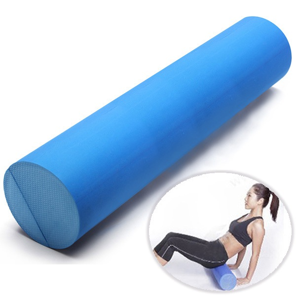 60x15cm EVA Yoga Gym Pilates Fitness Foam Roller Home Gym Massage Band