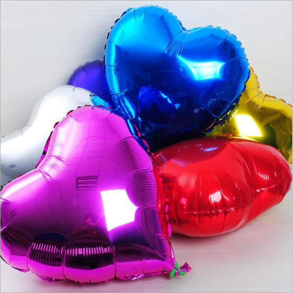 Foil Heart Helium Balloons Wedding Engagement Party Decorations