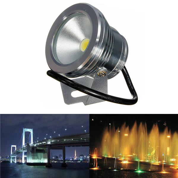 10W Under Water LED Flood Wash Waterproof Spot Lightt Pool Outdooors 12V
