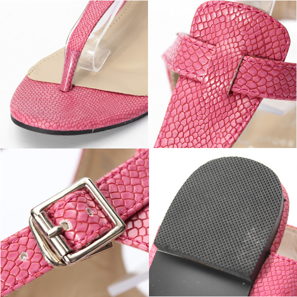 Strappy Clip Toe Summer Buckle Sandals Flat Ankle Shoes