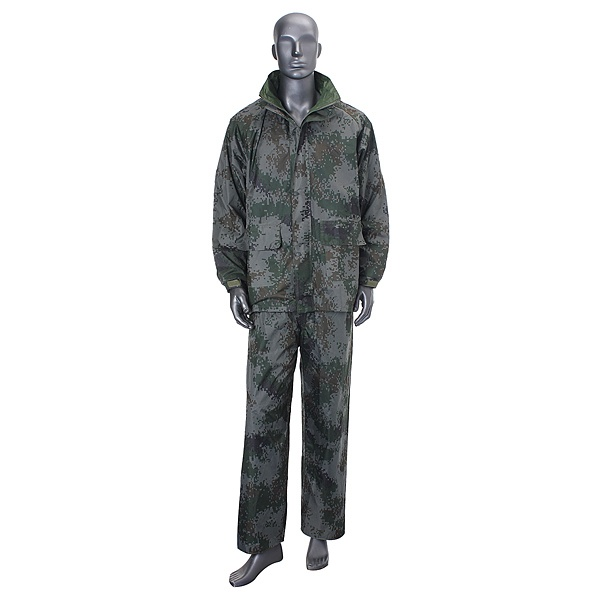 Outdoor Camping Rain Coat Double Layer PVC Rain Suit
