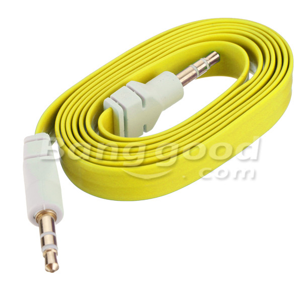 3.5mm Male Audio Stereo AUX Flat Noodle Cable For Mp3 PC And Others