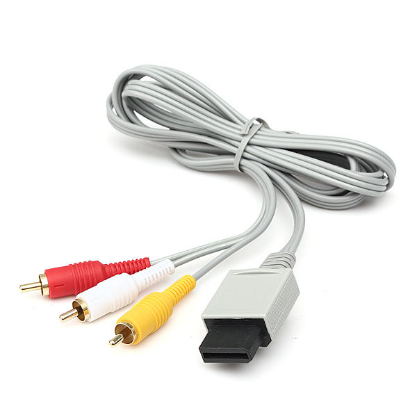 1.8m 3 rows Audio Video AV Composite RCA Cable Cord for Nintendo Wii