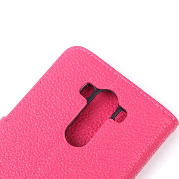 Fashion Magnetic Clasp Litchi Grain Leather Case Cover For LG G3
