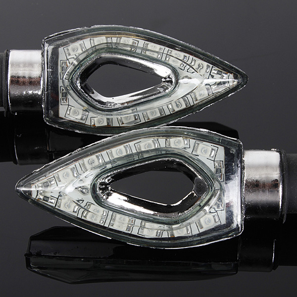 Motorcycle 12LED Turn Signal Indicator Blinker Light For Honda kawasaki
