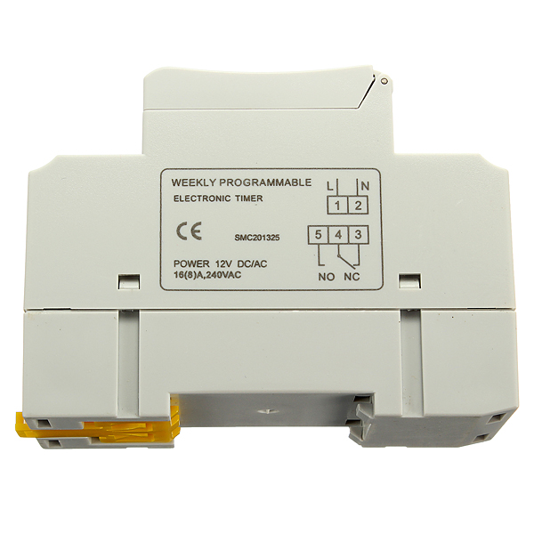 DC 12V Din Rail LCD Programmable Timer Switch Time Relay Switch