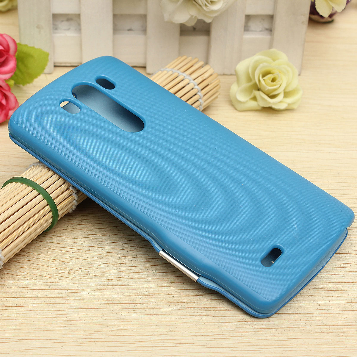 Magnetic Buckle Flip Leather Hard Cover Case For LG G3 D855