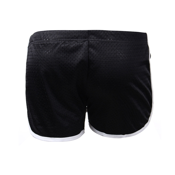 Mens Gym Breathable Mesh Wicking Drawstring Exercise Sports Shorts