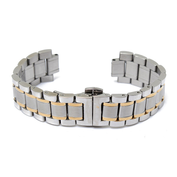 19/20mm Stainless Steel 5 Beads Double Buckle Watch Ban