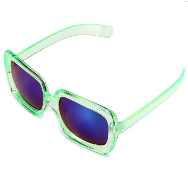 Mens Womens Reflective Plating Film Big Frame Resin UV400 Sunglasses