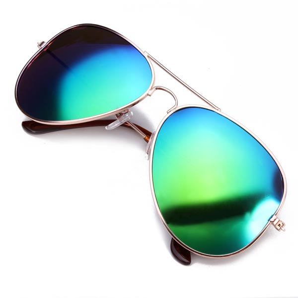 Men Women Meta Coating Polarization Resin Sunglasses Frog Mirrors